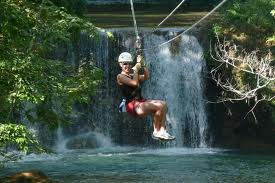 Jamaica Excursions to YS falls zip line over the falls